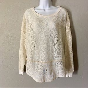 Free People lace pullover sweater